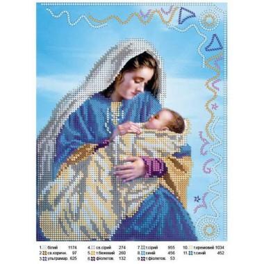 """Схема для вишивки бісером """"Ісус і Марія"""""""