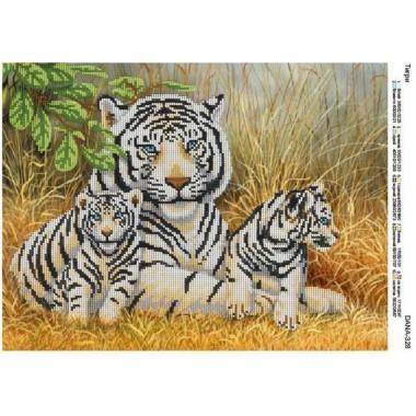 """Схема для вишивки бісером """"Тигри"""""""