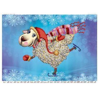"""Схема для вишивки бісером """"Весела овечка"""""""