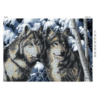 """Схема для вишивки бісером """"Вовки"""""""