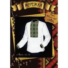 """Схема для вишивання чоловічої сорочки """"Етно-style"""" 15-15"""