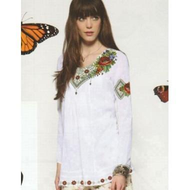 """Схема для вишивання сорочки або плаття хрестиком """"Літній букет"""""""