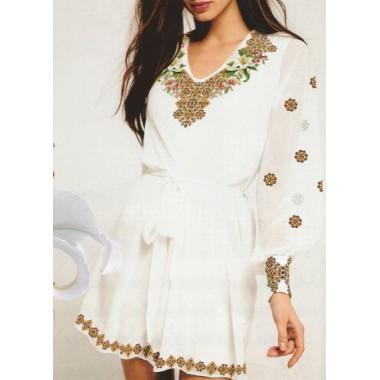 """Схема для вишивання сорочки або плаття хрестиком """"Карпатська лілія"""""""