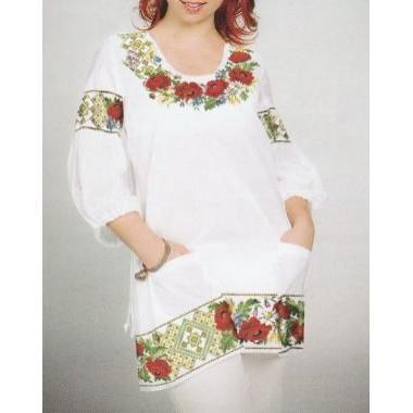 """Схема для вишивання сорочки або плаття хрестиком """"Купальський віночок"""""""