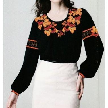 """Схема для вишивання сорочки або плаття хрестиком """"Калинова осінь"""""""