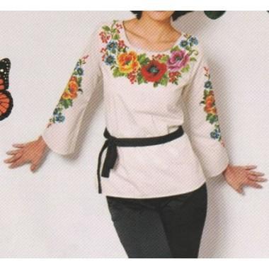 """Схема для вишивання сорочки або плаття хрестиком """"Кольорові сни"""""""