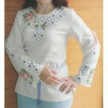 """Схема для вишивання сорочки або плаття хрестиком """"Троянда"""""""