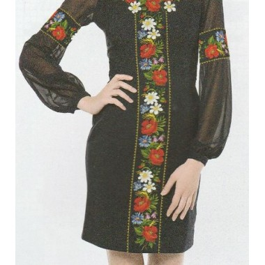 """Схема для вишивання сорочки або плаття хрестиком """"Польові квіти"""""""