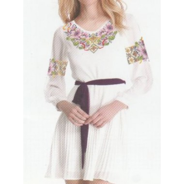 """Схема для вишивання сорочки або плаття хрестиком """"Квіткова фантазія"""""""