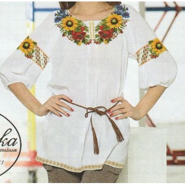 """Схема для вишивання сорочки або плаття хрестиком """"Сонячний танок"""""""