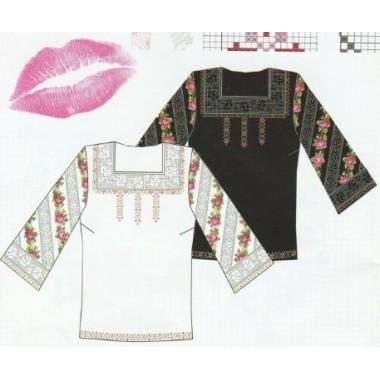 """Схема для вишивання сорочки або плаття хрестиком """"Романтика"""""""