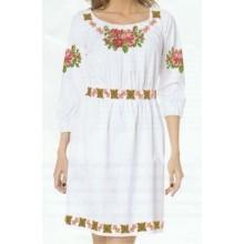 """Схема для вишивання сорочки або плаття хрестиком """"Квіткове намисто"""""""