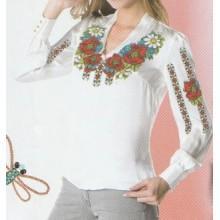 """Схема для вишивання сорочки або плаття хрестиком """"Барвисті візерунки"""""""
