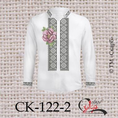 """Заготовка чоловічої сорочки під вишивку """"Квіткове різноманіття"""" (варіант 2)"""