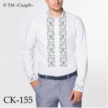 """Заготовка чоловічої сорочки під вишивку """"Срібні бутони"""""""