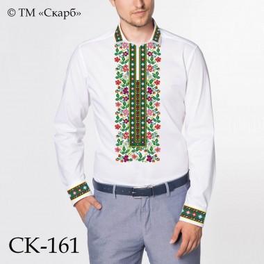 """Заготовка чоловічої сорочки під вишивку """"Квітковий орнамент"""""""