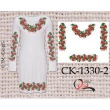 """Заготовка плаття під вишивку """"Червона горобина"""" (варіант 2)"""