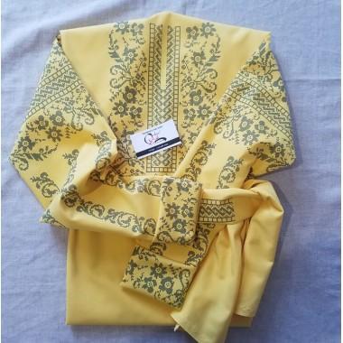 """Заготовка блузки під вишивку """"Сокальські мотиви"""" (жовта)"""