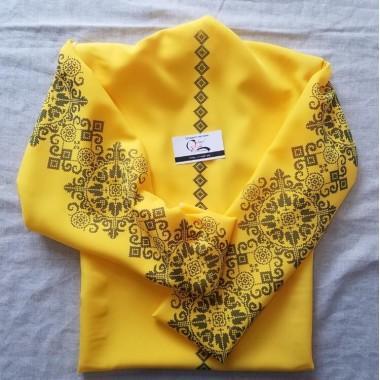 """Заготовка блузки під вишивку """"Багатство"""" (жовта)"""