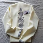 """Заготовка блузки під вишивку """"Монохромний розпис"""" (молочний)"""