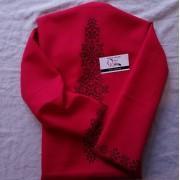 """Заготовка блузки під вишивку """"Монохромні зірки"""" (червона)"""