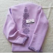 """Заготовка блузки під вишивку """"Монохромний розпис"""" (рожева)"""