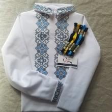 """Заготовка дитячої сорочки """"Патріотичний орнамент"""""""