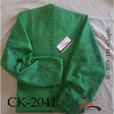 """Заготовка блузки під вишивку """"Багатство"""" (зелена)"""