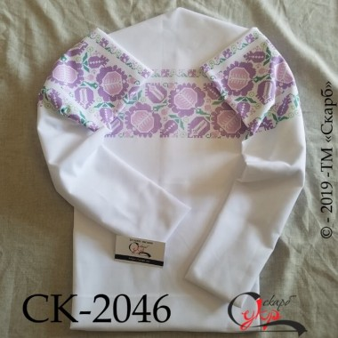 """Заготовка жіночої блузки під вишивку """"Давнина"""" (фіолетова)"""