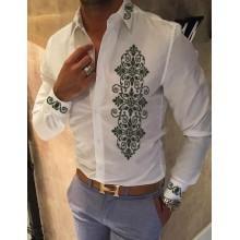 """Заготовка чоловічої сорочки під вишивку """"Монохромні абстракції"""" (варіант 2)"""