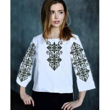 """Заготовка жіночої блузки під вишивку """"Монохромні абстракції"""" (варіант 2)"""