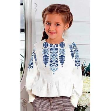 """Заготовка дитячої блузки """"Магія блакиті"""""""