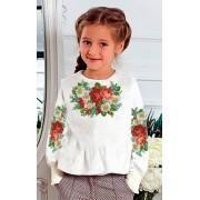 "Заготовка дитячої блузки ""Троянди та ромашки"""