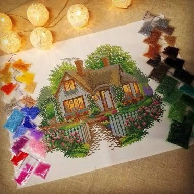 Будинок мрій. Схема для вишивки бісером, нитками