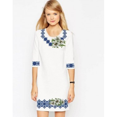 """Заготовка плаття під вишивку """"Білі лілії в орнаменті"""""""