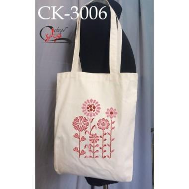 """Еко-сумка під вишивку """"Рожеві квіти"""""""