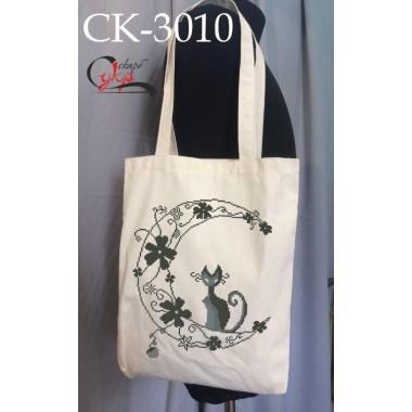 """Еко-сумка під вишивку """"Місячний кіт"""""""