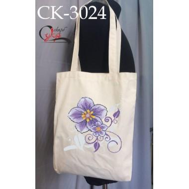 """Еко-сумка під вишивку """"Фіолетовий цвіт"""""""