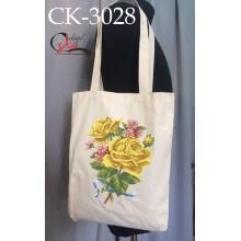 """Еко-сумка під вишивку """"Жовті троянди"""""""