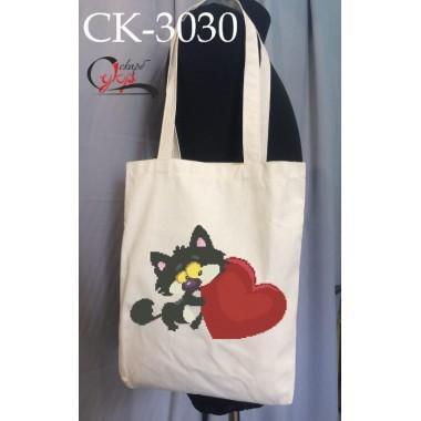 """Еко-сумка під вишивку """"Закоханий котик"""""""