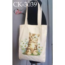 """Еко-сумка під вишивку """"Літній котик"""""""
