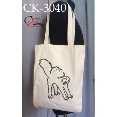 """Еко-сумка під вишивку """"Кіт Саймона"""" (наляканий)"""