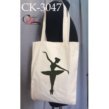 """Еко-сумка під вишивку """"Балетний силует"""""""