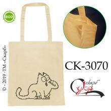 """Еко-сумка під вишивку """"Голодний Кіт Саймона"""""""