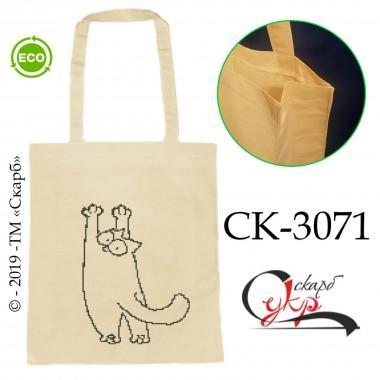 """Еко-сумка під вишивку """"Кіт Саймона на стіні"""""""