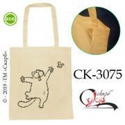 """Еко-сумка під вишивку """"Кіт Саймона на прогулянці"""""""
