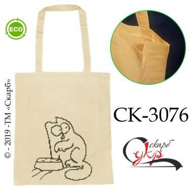 """Еко-сумка під вишивку """"Кіт Саймона хоче їсти"""""""
