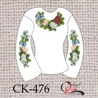 """Заготовка жіночої блузки під вишивку """"Квіткова свіжість"""""""