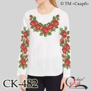 """Заготовка жіночої блузки під вишивку """"Квітучі троянди"""""""