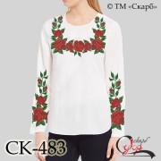 """Заготовка жіночої блузки під вишивку """"Класичні троянди"""""""